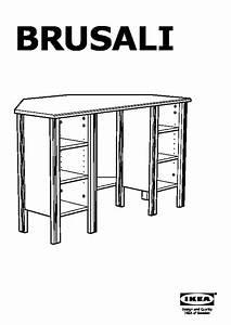 Bureau D Angle Ikea : brusali bureau d 39 angle blanc ikea france ikeapedia ~ Teatrodelosmanantiales.com Idées de Décoration