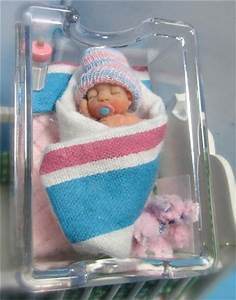 OOAK Polymer Clay Sculpted Miniature Baby Girl Art Doll In ...