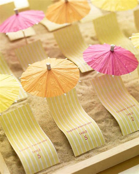 Escort Card Ideas For A Beach Wedding Martha Stewart