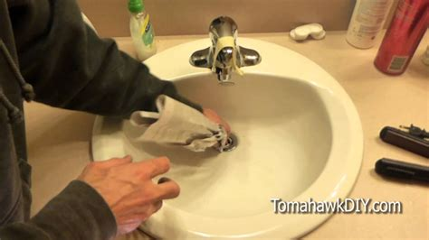 easy  fix  clogged sink  tools needed youtube
