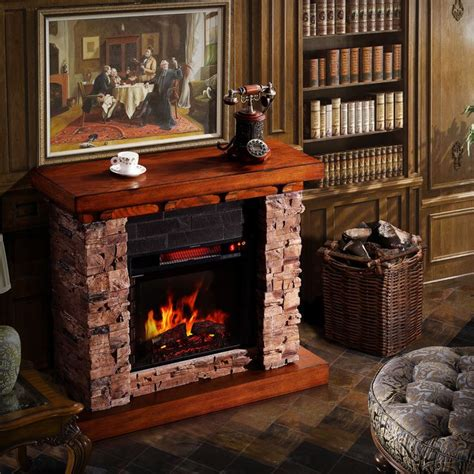 stacked electric fireplace corvus stacked faux oak electric fireplace