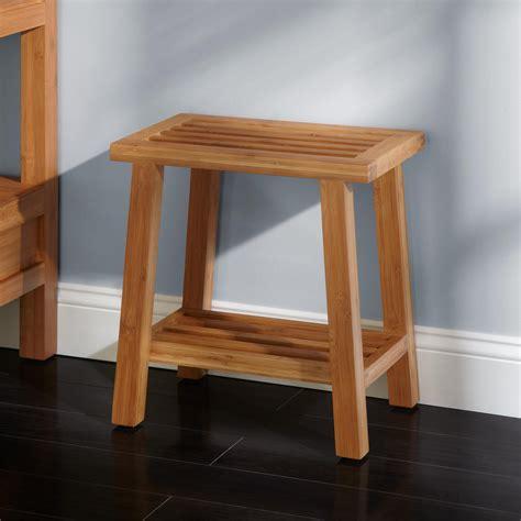 contemporary vanity stools for bathroom pradit bamboo bathroom stool bathroom