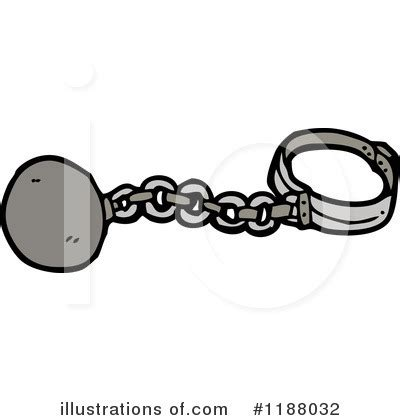 Ball and Chain Clip Art