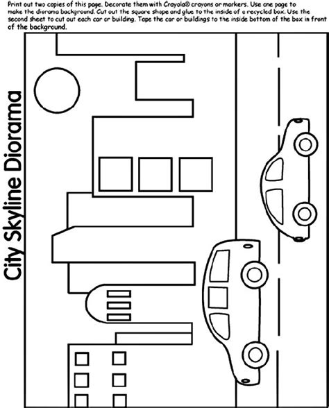 city skyline diorama coloring page coloring pages