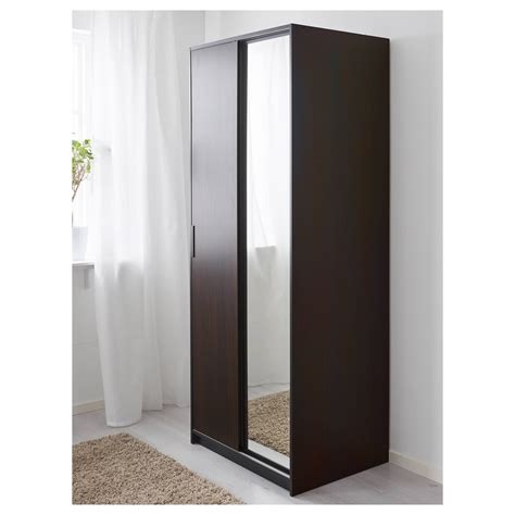 Brown Wardrobe With Mirror by 30 Ideas Of Wood Wardrobes Ikea