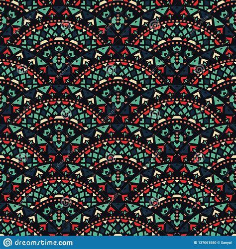 Tribal Art Seamless Pattern Ethnic Geometric Print