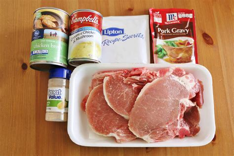 A simple brine imparts flavor, but mostly keeps the pork chops from drying out; CROCK POT PORK CHOPS AND GRAVY (+Video) | The Country Cook