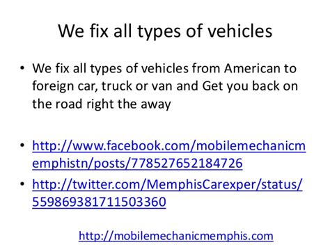 Mobile Mechanics In Germantown Tn Auto Car Repair