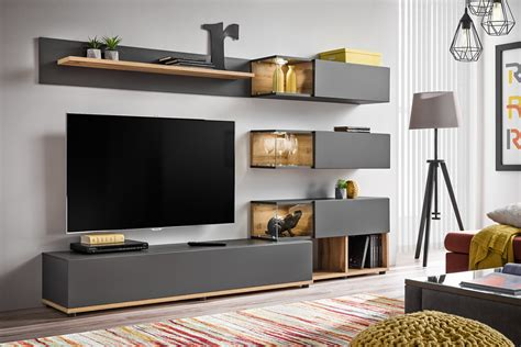 Anthracite Modern Entertainment Center / Living