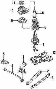 Ford Contour Suspension Subframe Crossmember  Rear