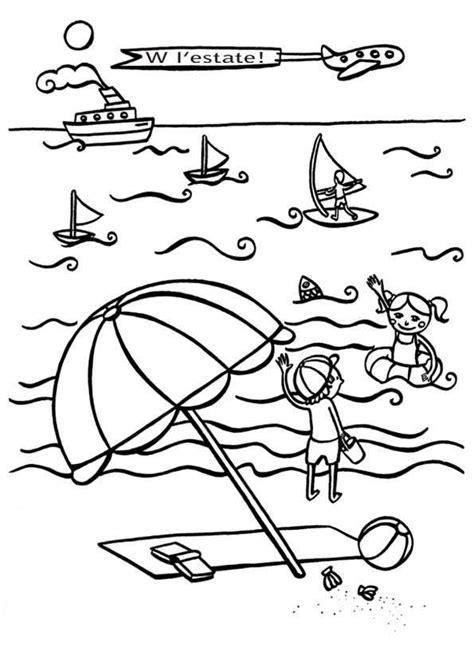 disegni sullestate da stampare  colorare vacanze al