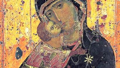 Orthodox Icon Vladimir God Mother Russian Early