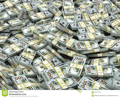 Packs Of Dollars Background. Lots Of Cash Money. Stock