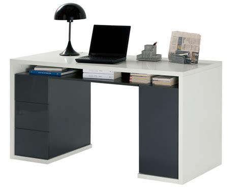 rangements bureau bureau 3 tiroirs 1 porte moneta 2 blanc gris fonce