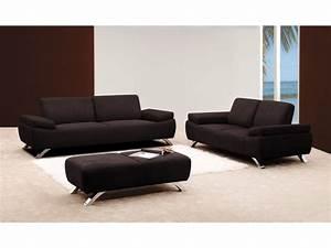 canape et pouf en microfibre chocolat ou rouge polka With tapis chambre enfant avec canapé contemporain 2 places