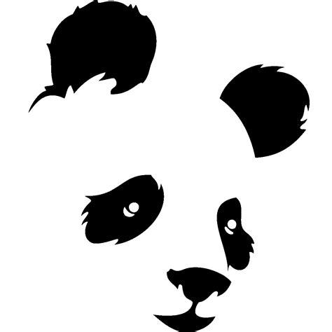 chambre de bébé vintage stickers muraux animaux sticker tête de panda de