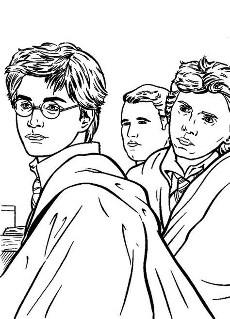 Kleurplaat Harry Potter En De Relieken De Dood by Drawing Of Harry Potter Coloring Page Netart
