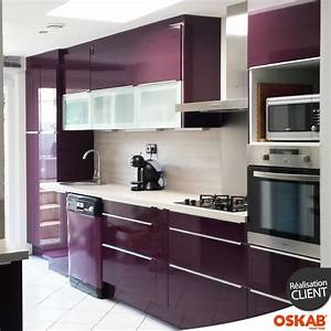 Couleur Cuisine Moderne : cuisine couleur aubergine ultra moderne et color e ~ Melissatoandfro.com Idées de Décoration