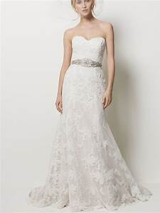 sweetheart strapless lace wedding dressescherry marry With strapless sweetheart wedding dresses