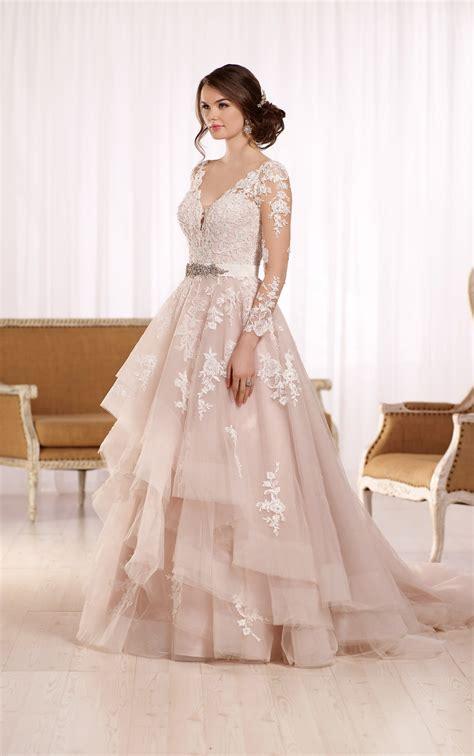 sleeved wedding dresses wedding dress with long illusion