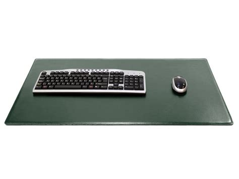 bureau 80 cm grand sous de bureau en cuir vert 80 cm par 50 cm