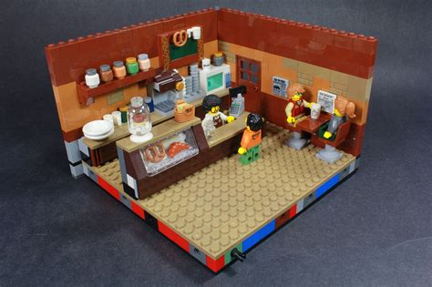 I found that building this lego coffee shop and bookstore was a lot easier to add colour without using ldd. Coffee Shop (With images)   Lego room, Lego furniture, Lego