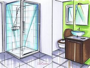 Dessiner Sa Salle De Bain : salle de bain dessin ~ Dallasstarsshop.com Idées de Décoration