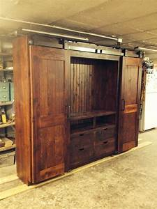 barn door entertainment cabinets farmhouse With barn door tv wall cabinet