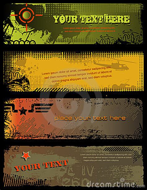 military banners royalty  stock  image