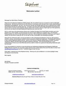 Welcome Letters Backgroundwelcome Letter Business Letter