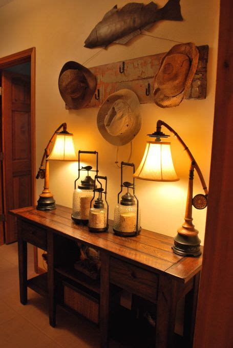 cabin themed decor unique rustic fishing decor ideas room on cave 1908