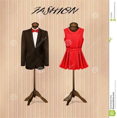 suit   retro formal dress  mannequins stock
