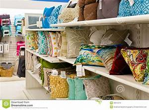 Home Goods: Accent Pillows Editorial Photography - Image