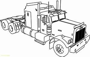 Peterbilt Semi Truck Coloring Pages Gallery Coloring For