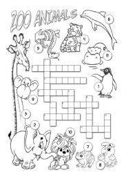 zoo animals  spanish worksheet schematic  wiring