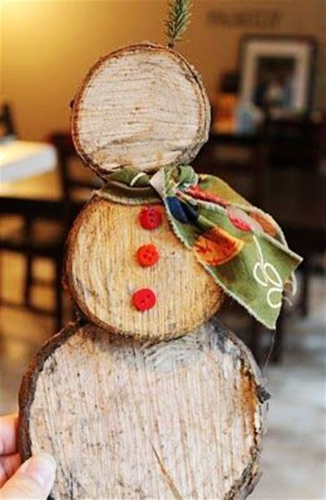 log snowman christmas pinterest logs  snowman