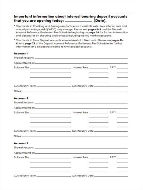 deposit form templates