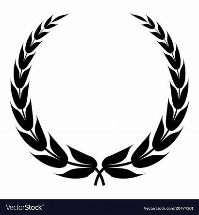 Wreath Vector Heraldic Simple Icon Royalty Symbol