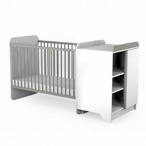 Lit Avec Table à Langer : lit bebe evolutif avec table langer ouistitipop ~ Teatrodelosmanantiales.com Idées de Décoration