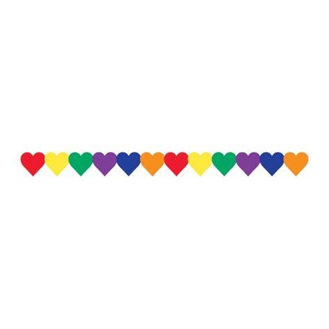 html border color colored hearts border