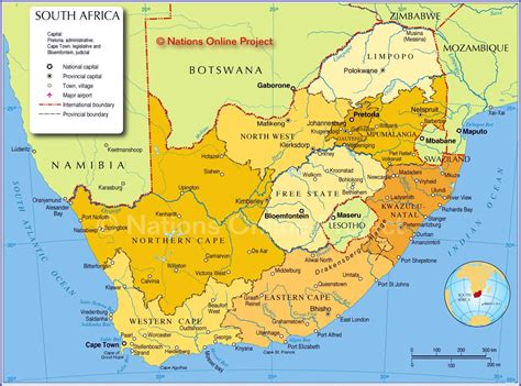 Printable Maps Of South Africa For