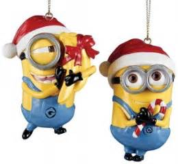 despicable me minions christmas ornaments