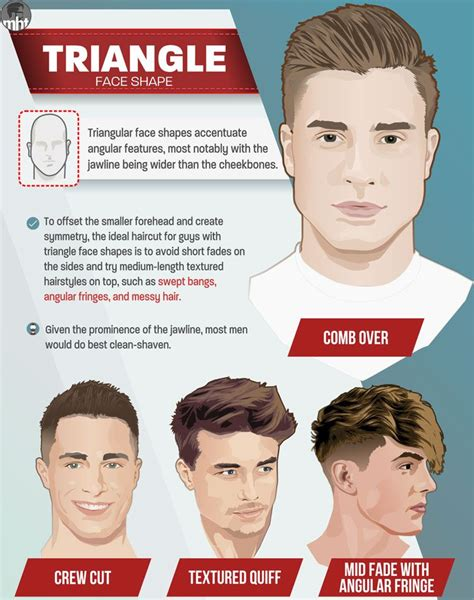 mens haircuts   face shape