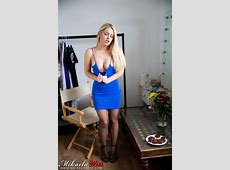 Mikaela Witt Tight Blue Dress