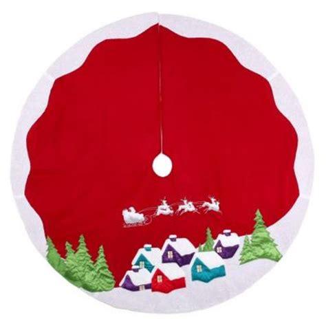 martha stewart living 48 in red fleece santa and sleigh