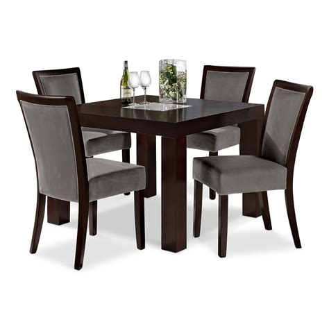 furniture dining sets tango gray dining room 5 pc dinette 42 quot table value city furniture