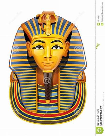 Egyptian Mask Cartoon Clip Vector Pharaon Egypt