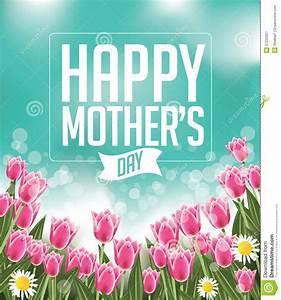 Happy Mothers Day Tulips Design EPS 10 Vector Stock Vector ...