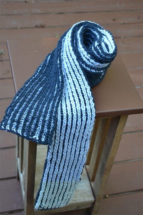 color brioche scarf knitting pattern