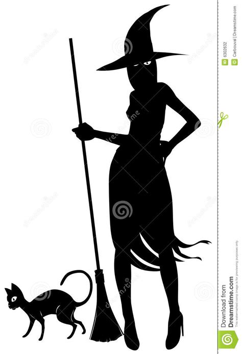 silhouette  witch  black stock photography image